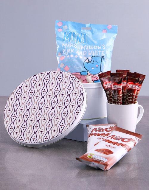 secretarys-day: Purple Diamond Hot Chocolate Tin Hamper!