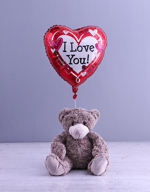 teddy-bears: Anniversary Teddy And Balloon Gift!