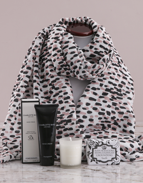 bath-and-body: Dotted Scarf and Charlotte Rhys Gift!