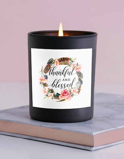 mothers-day: Thankful And Blessed Candle!