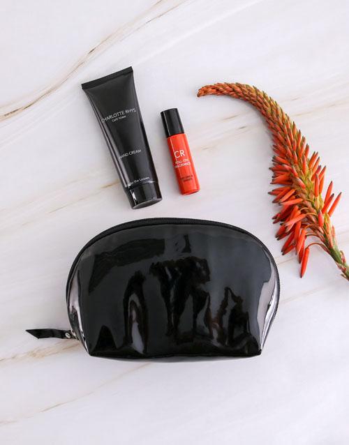 bath-and-body: Charlotte Rhys Black Cosmetic Bag Hamper!
