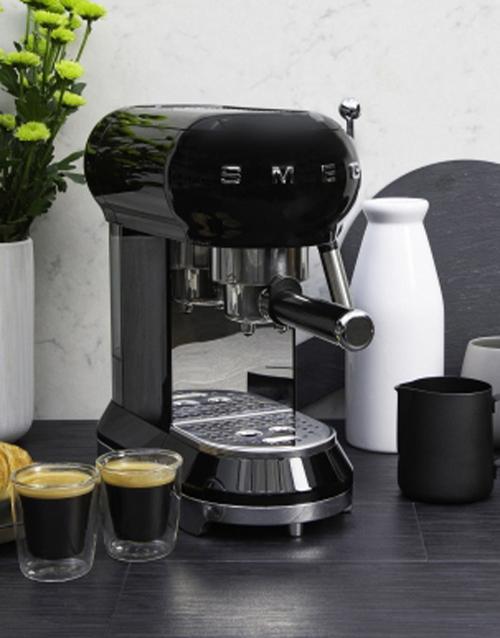 christmas: SMEG Retro Espresso Coffee Machine Black!
