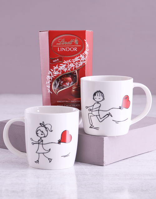 valentines-day: Chasing Love Mug Set With Lindt Treats!