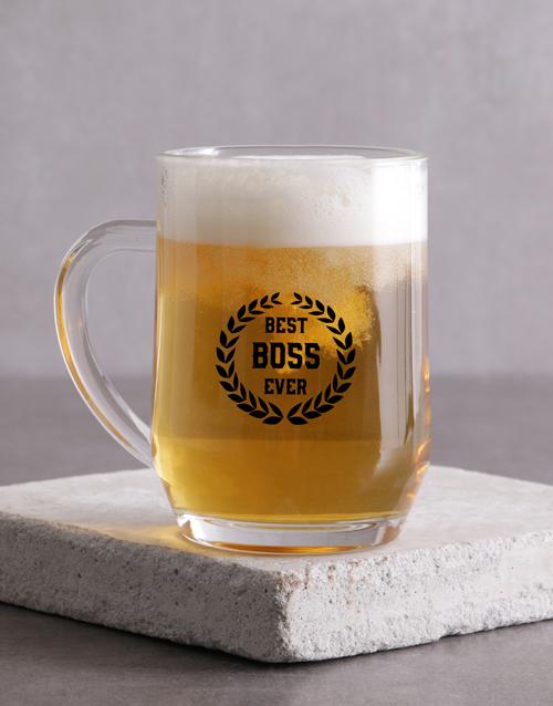 homeware: Best Boss Wreath Beer Mug !