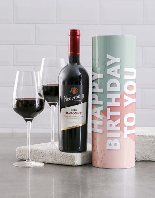 birthday: Happy Birthday To You Wine Tube!