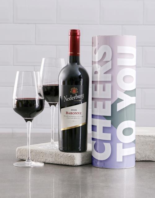 birthday: Cheers To You Modern Wine Tube!