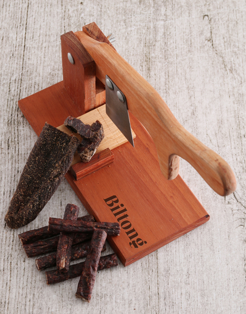 birthday: Wooden Biltong Cutter!