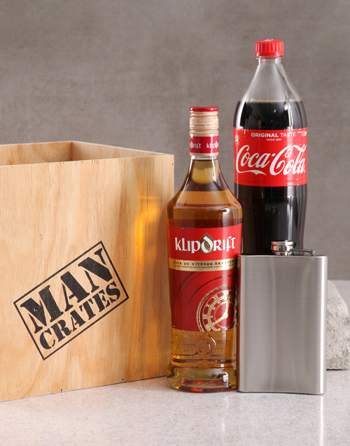 valentines-day: Klipdrift and Coca Cola Man Crate!
