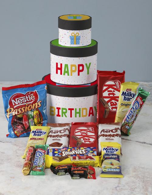 birthday: Birthday Wrap Around Chocolate Tower Box!