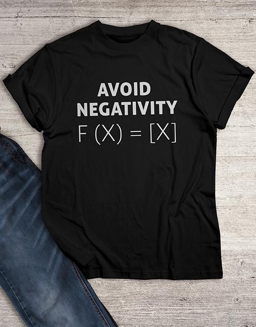 clothing: Avoid Negativity T Shirt!