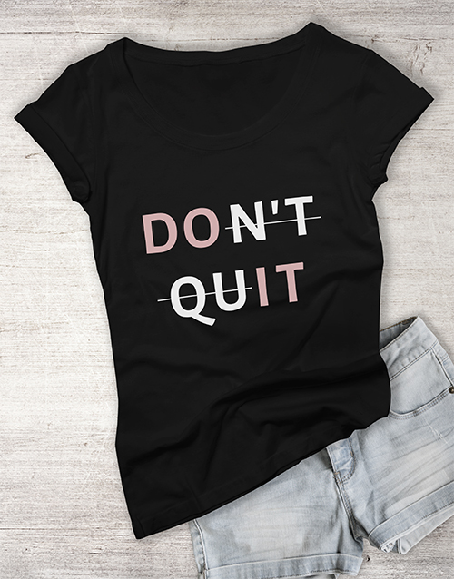personalised: Do It Ladies T Shirt!