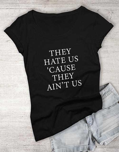 personalised: Haters Ladies T Shirt!