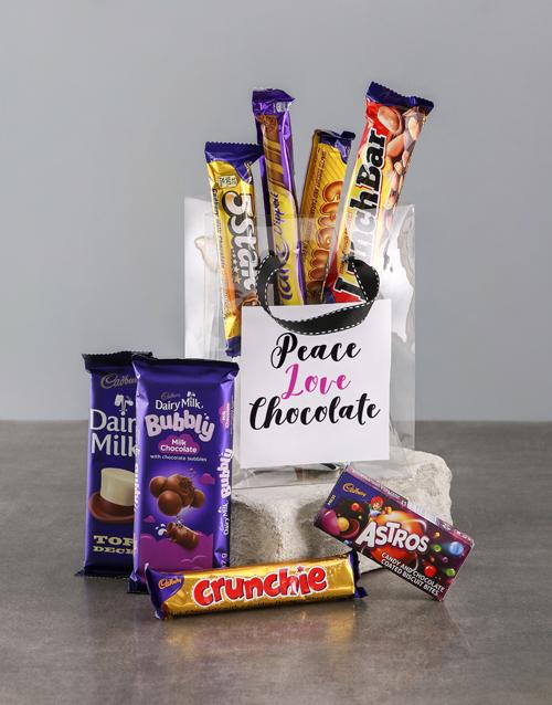 christmas: Peace and Love Choc Bag!