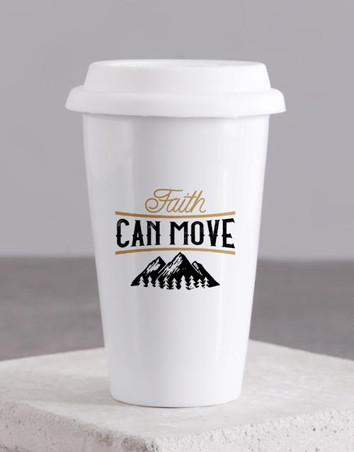 christmas: Faith Can Move Travel Mug!