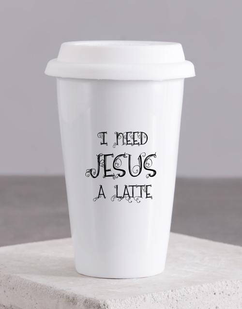 christmas: I need Jesus Travel Mug!