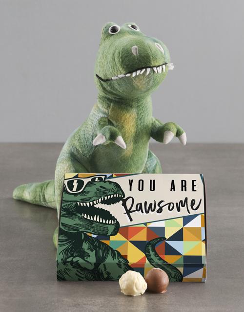 chocolate: Rawsome Dinosaur Teddy With Chocolate Tray!