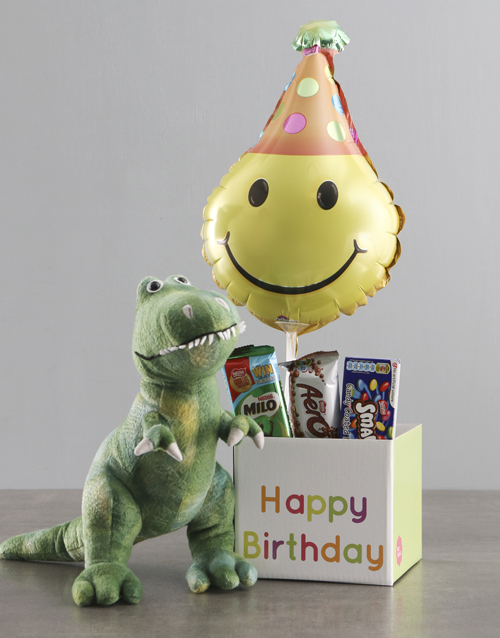 teddy-bears: Dinosaur Teddy And Balloon Birthday Box!