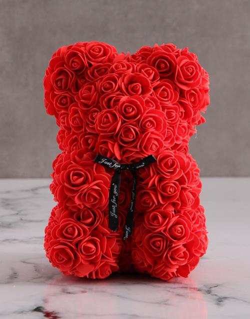 teddy-bears: Adorable Foam Rose Teddy!