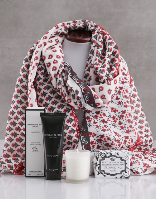 new-years: Red Paisley Scarf and Charlotte Rhys Gift!
