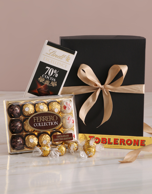 mothers-day: Glamorous Gold And Black Chocolate Box!