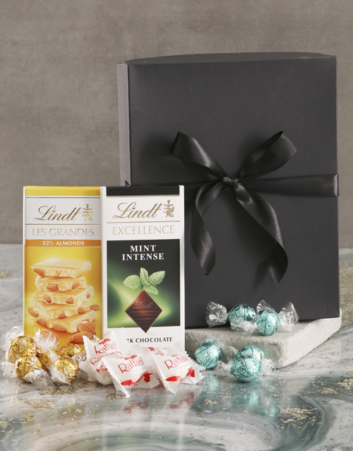 mothers-day: Glorious Green And Black Chocolate Box!