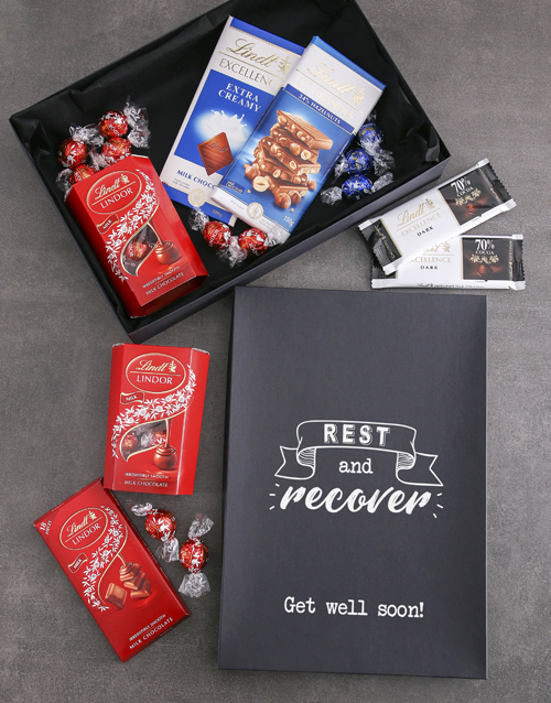 chocolate: Rest And Recover Lindt Chocolate Box!