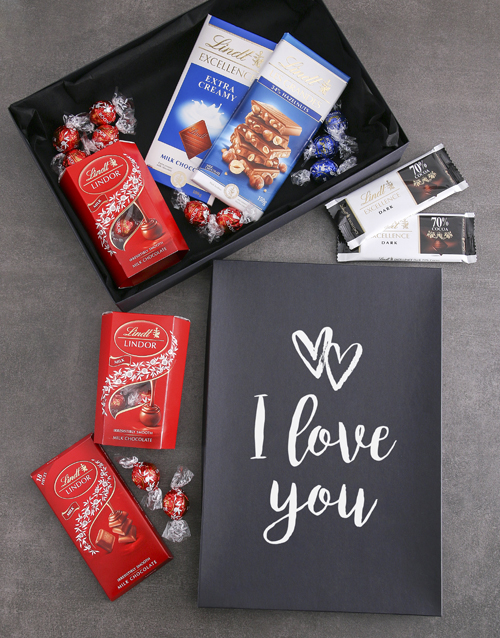 valentines-day: I Love You Lindt Chocolate Box !