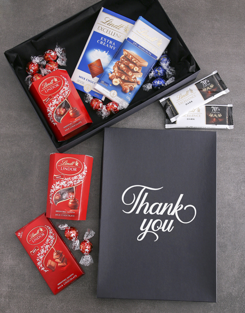 chocolate: Thank You Lindt Chocolate Box!
