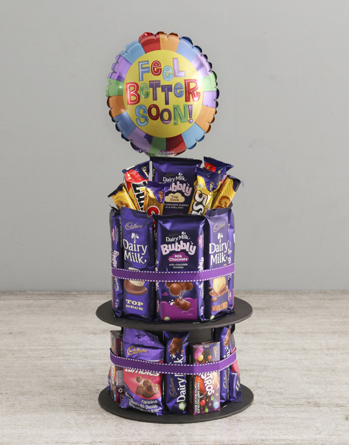 chocolate: Cadbury Get Well Soon Tower And Balloon!