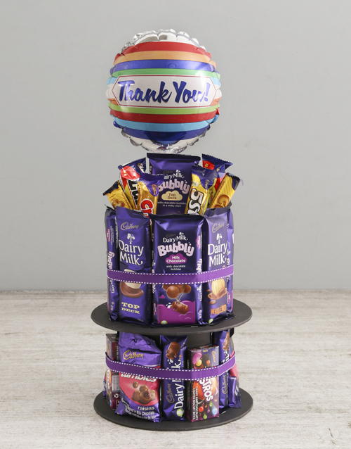 chocolate: Cadbury Gratitude Chocolate Tower And Balloon!