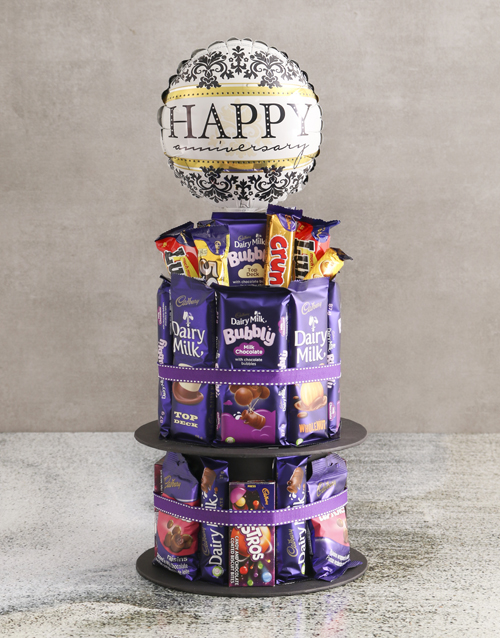 chocolate: Cadbury Anniversary Chocolate Tower And Balloon!