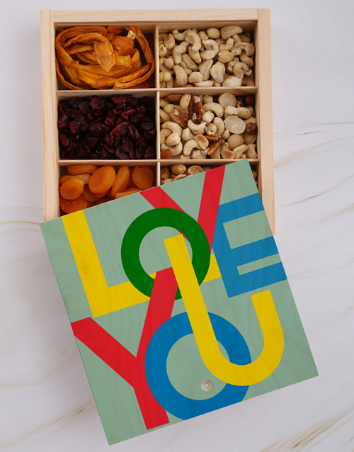 valentines-day: Love You Fruit And Nuts Treasure Box!
