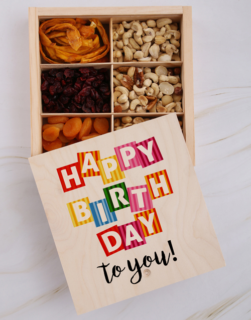 birthday: Happy Birthday To You Fruit And Nuts Treasure Box!
