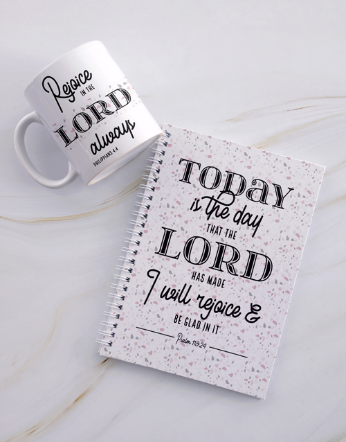 christmas: Rejoice In The Lord Notebook Set!