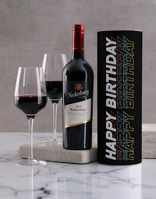 birthday: Black Birthday Wine Tube!
