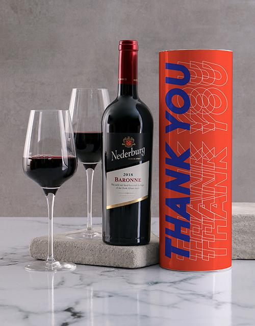 secretarys-day: Orange Thank You Wine Tube!