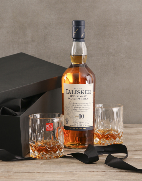 birthday: Talisker Whisky Gift Set!