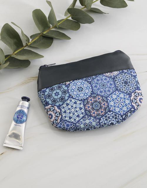 cyber-monday: Loccitane Blue Marakesh Cosmetic Bag!