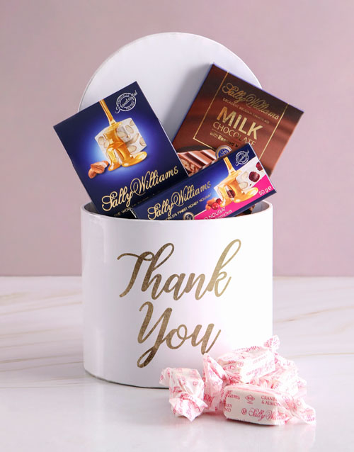 chocolate: Sally Williams Gratitude Hat Box!