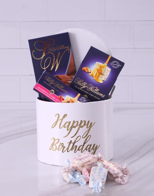 nougat: Sally Williams Happy Birthday Hat Box!