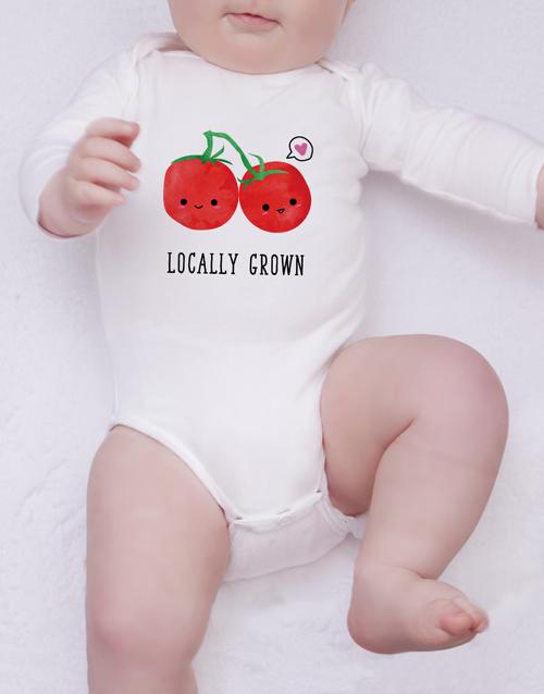 baby: Locally Grown Onesie!