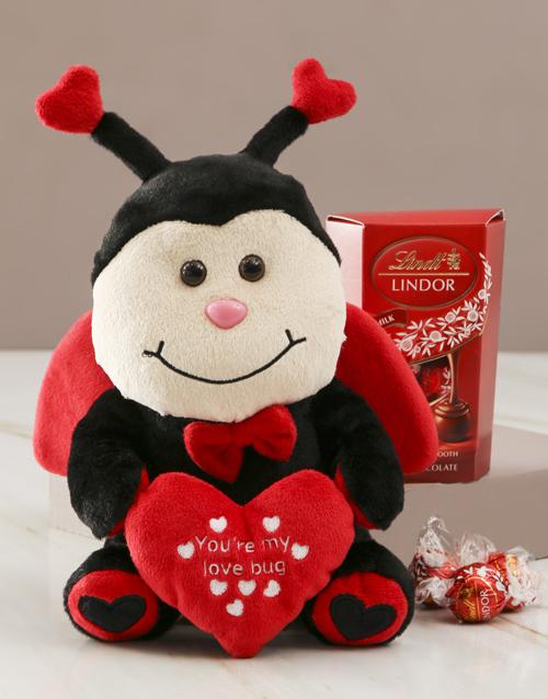 chocolate: Ladybug Teddy And Lindt Choc Hamper!