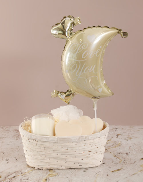valentines-day: Love You to The Moon Soap Basket !