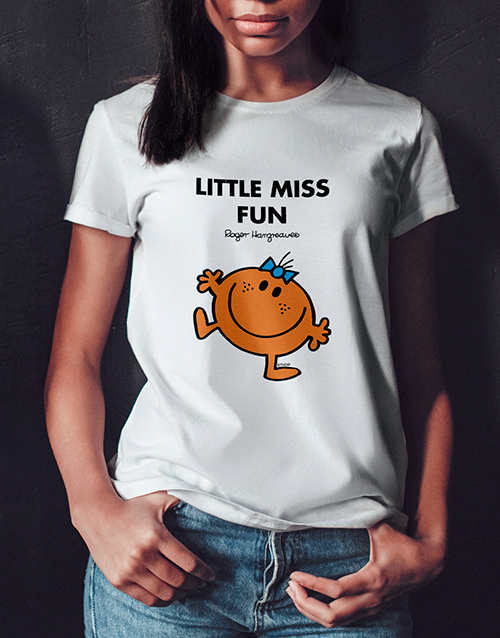 personalised: Little Miss Fun Ladies T Shirt!