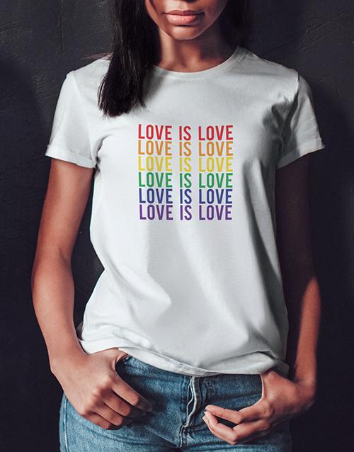 personalised: Love Is Love Ladies White Tshirt!