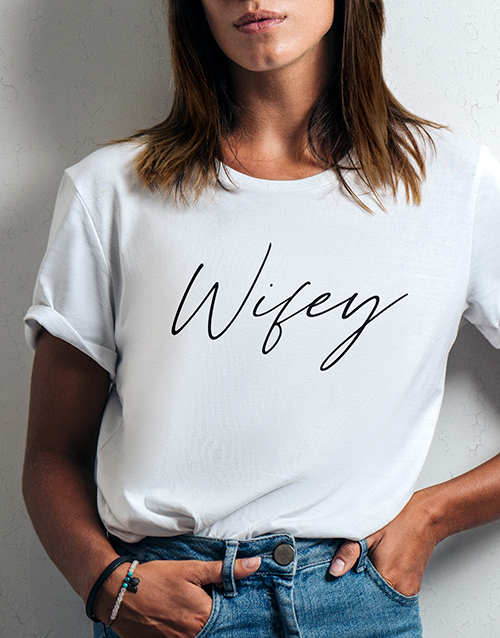 personalised: Wifey Ladies White Tshirt!