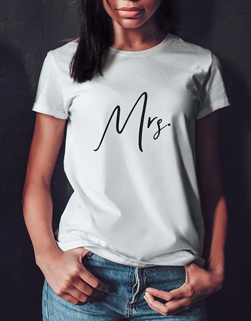 personalised: Mrs White Tshirt!