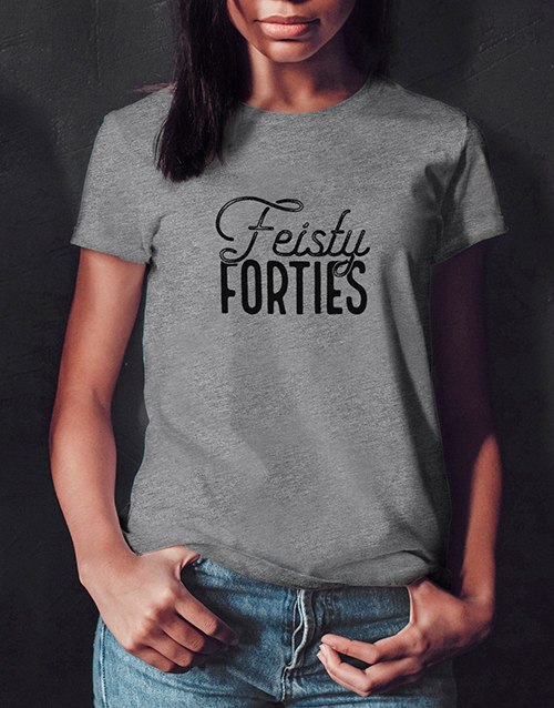 clothing: Feisty Forties Ladies T Shirt!