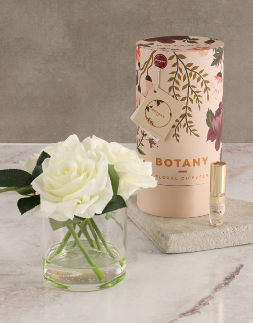 teachers-day: Botany Large Cream Silk Rose Diffuser!