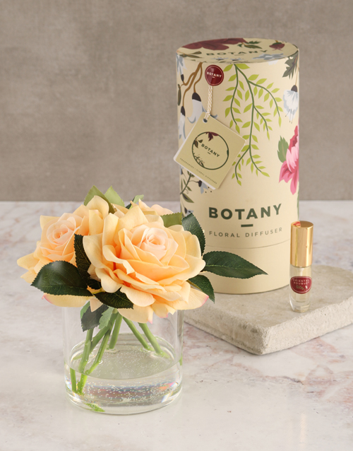 spring-day: Botany Large Peach Silk Rose Diffuser!